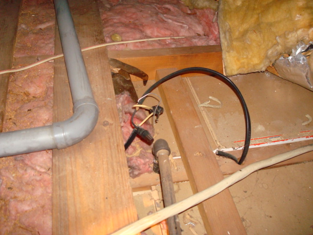electrical junction box in attic 2